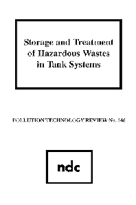 Storage and Treatment of Hazardous Wastes in Tank Systems - 1st Edition - ISBN: 9780815511380, 9780815519157