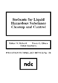 Sorbents for Liquid Hazardous Substance Cleanup and Control - 1st Edition - ISBN: 9780815511595, 9780815519126