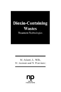 Dioxin-Containing Wastes - 1st Edition - ISBN: 9780815511816, 9781437728187