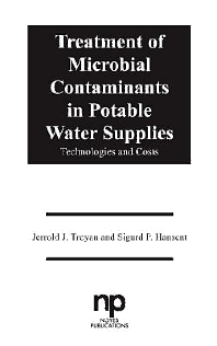 Treatment of Microbial Contaminants in Potable Water Supplies, 1st Edition,Jerrold J. Troyan,Sigurd P. Hansent,ISBN9780815512141