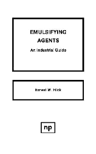 Emulsifying Agents, 1st Edition,Ernest W. Flick,ISBN9780815512257