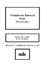 Phosphorus Removal from Wastewater - 1st Edition - ISBN: 9780815512509, 9780815518587