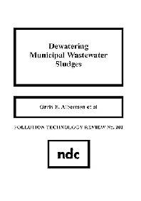 Dewatering Municipal Wastewater Sludge - 1st Edition - ISBN: 9780815512660, 9780815516866
