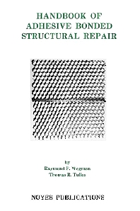 Cover image for Handbook of Adhesive Bonded Structural Repair