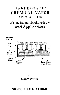 Cover image for Handbook of Chemical Vapor Deposition