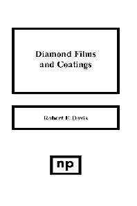 Diamond Films and Coatings, 1st Edition,Robert F. Davis,ISBN9780815513230