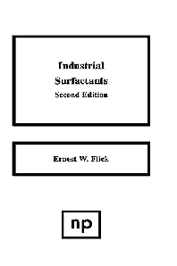 Industrial Surfactants - 2nd Edition - ISBN: 9780815513322, 9780815518105