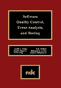 Software Quality Control, Error, Analysis, 1st Edition,UNKNOWN AUTHOR,Saul F. Stanten,W.W. Peng,D.R. Wallace,Deborah A. Cerino,Roger J Dziegiel Jr.,ISBN9780815513636