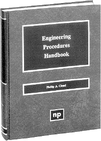 Engineering Procedures Handbook, 1st Edition,Phillip A. Cloud,ISBN9780815514107