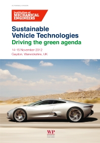 Sustainable Vehicle Technologies, 1st Edition,ISBN9780857094568