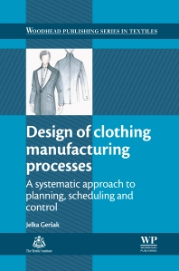 Cover image for Design of Clothing Manufacturing Processes