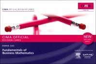 CIMA Revision Cards Fundamentals of Business Mathematics 2011-2012 edition
