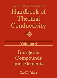Handbook of Thermal Conductivity, Volume 4:, 1st Edition,Carl L. Yaws,ISBN9780884153955