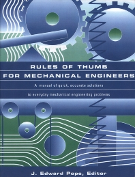 Cover image for Rules of Thumb for Mechanical Engineers