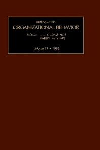 Research in Organizational Behavior - 1st Edition - ISBN: 9780892323517, 9780080968049
