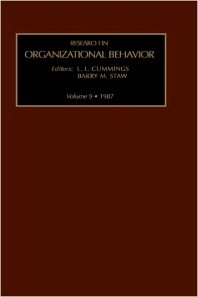Research in Organizational Behavior - 1st Edition - ISBN: 9780892326365