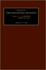 Research in Organizational Behavior - 1st Edition - ISBN: 9780892327485, 9780080977799
