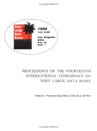 Proceedings 1988 VLDB Conference, 1st Edition, VLDB,ISBN9780934613750