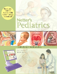 Cover image for Netter's Pediatrics, Book and Online Access at www.NetterReference.com