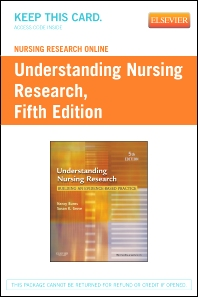 Nursing Research Online for Understanding Nursing Research (User's Guide and Access Code)