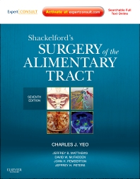 Cover image for Shackelford's Surgery of the Alimentary Tract - 2 Volume Set