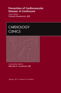Cover image for Prevention of Cardiovascular Disease: A Continuum,  An Issue of Cardiology Clinics