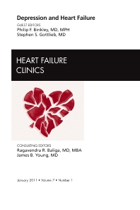 Cover image for Depression and Heart Failure, An Issue of Heart Failure Clinics