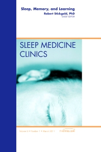 Cover image for Sleep, Memory and Learning, An Issue of Sleep Medicine Clinics