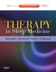 Therapy in Sleep Medicine E-Book - 1st Edition - ISBN: 9781455723300