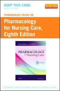 Pharmacology Online for Pharmacology for Nursing Care (Retail Access Card)