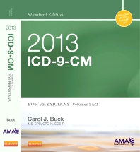 Cover image for 2013 ICD-9-CM for Physicians, Volumes 1 and 2, Standard Edition