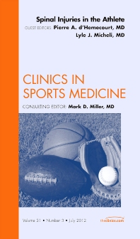 Cover image for Spinal Injuries in the Athlete, An Issue of Clinics in Sports Medicine