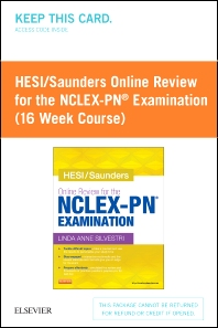 HESI/Saunders Online Review for the NCLEX-PN Examination (1 Year) (Access Card) - 1st Edition - ISBN: 9781455751075
