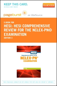 HESI Comprehensive Review for the NCLEX-PN® Examination - Elsevier eBook on VitalSource + Evolve Access (Retail Access Cards)