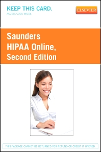 HIPAA Online (User Guide and Access Code) - 2nd Edition - ISBN: 9781455756254
