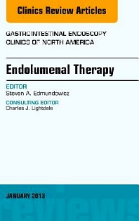 Cover image for Endolumenal Therapy, An Issue of Gastrointestinal Endoscopy Clinics