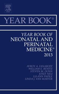 Cover image for Year Book of Neonatal and Perinatal Medicine 2013
