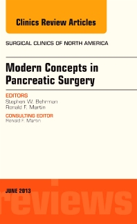 Cover image for Modern Concepts in Pancreatic Surgery, An Issue of Surgical Clinics
