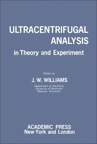 Cover image for Ultracentrifugal Analysis in Theory and Experiment