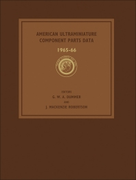 Cover image for American Ultraminiature Component Parts Data 1965-66