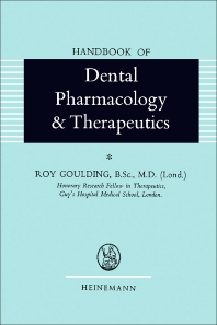 Cover image for Handbook of Dental Pharmacology and Therapeutics