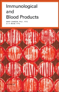 Cover image for Immunological and Blood Products