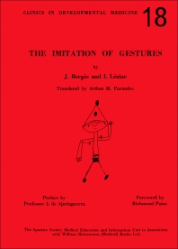 The Imitation of Gestures - 1st Edition - ISBN: 9781483196497, 9781483221526