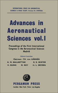 Advances in Aeronautical Sciences - 1st Edition - ISBN: 9781483198323, 9781483223353