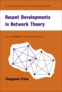 Recent Developments in Network Theory - 1st Edition - ISBN: 9781483198538, 9781483223568