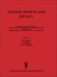 Vapour Growth and Epitaxy - 1st Edition - ISBN: 9781483198545, 9781483223575