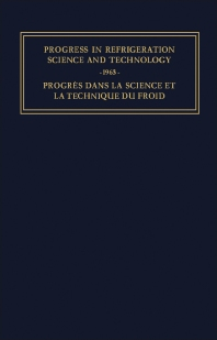 Progress in Refrigeration Science and Technology - 1st Edition - ISBN: 9781483198576, 9781483223605