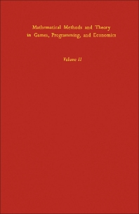 Cover image for Mathematical Methods and Theory in Games, Programming, and Economics