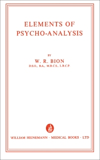 Cover image for Elements of Psycho-Analysis