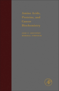 Amino Acids, Proteins and Cancer Biochemistry - 1st Edition - ISBN: 9781483231242, 9781483270531